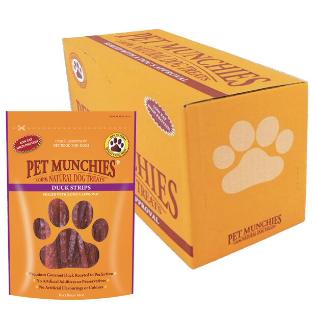 Pet Munchies Duck Strips Dog Treats 8 x 90g