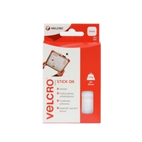 VELCRO 25 MM STICK ON SQUARES WHITE