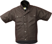 Oilskin Fleece Lined Short Sleeve Vest