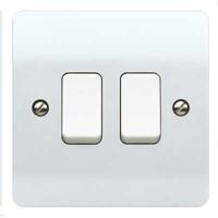 MK K4872WHI Logic Plus Plate Switch 2G 2 Way SP 10A WHI