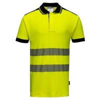 Portwest Hi-Vis Vision Polo Shirt Yellow