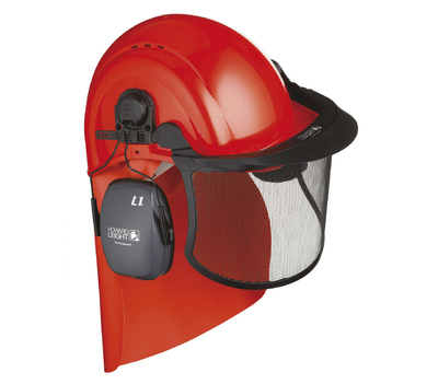 Howard Leight Forestry Kit (Helmet with attached L1H muff, mesh visor, cape)