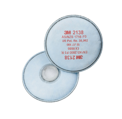 3M 2138 P3 Particle & Nuisance Vapours Filter for 6000 Series Masks
