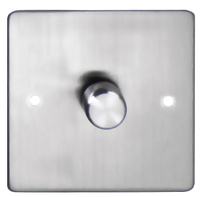 DETA Flat Plate 1gang Dimmer Satin Chrome | LV0201.0186