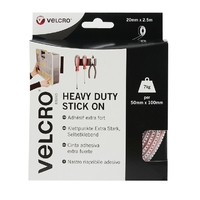 VELCRO ®  Heavy Duty Stick-on 50mmx2.5m White