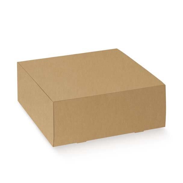 BOX CAKE GIFT  200X200X100MM BROWN