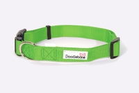 Doodlebone Adjustable Bold Collar Small - Green x 1