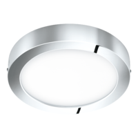 EGLO Fueva 1 LED Polished Chrome Round Ceiling Light LED 22w 3000k | LV1902.0068