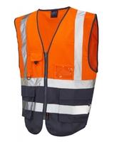 Leo Lynton Superior Waistcoat Orange/Navy
