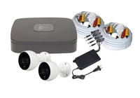 C2 Max 4Channel Kit - 1TB HDD and 2 x 4MP 2.8mm IR/PIR White Bullet Cameras