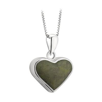 sterling silver connemara marble heart pendant s46614 from Solvar