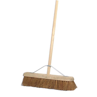 "24"" Contract Soft Natural Coco Platform Broom & Handle - 11.105HS3 (WT493)"