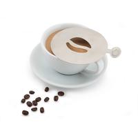 Coffee Stencils Stainless Steel Coffee Bean Design