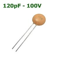 120pF - 100V   CERAMIC DISC CAPACITOR