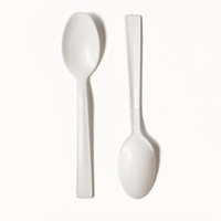 Catering Dessert Spoons (Plastic)-Carizma-(100)