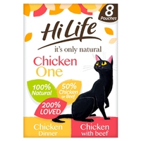 HiLife 'ION' Cat Pouch Complete - The Chicken One in Jelly 70g 8pk x 4