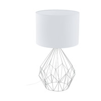 EGLO Pedregal 1 Chrome with White Shade Table Lamp | LV1902.0069