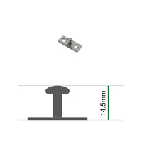 Stud Plate 14.5mm for Restrictor Catches