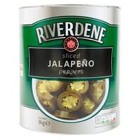 Tin Jalapeno (Sliced)-Riverdene-(3kg)
