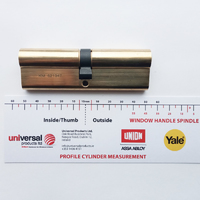Profile Cylinder Brass 50/50 Key Key