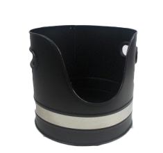 Black&Nickle Log Bucket