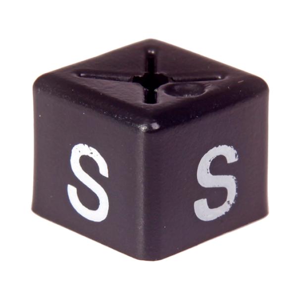 SHOPWORX CUBEX 'Size S' Unisex size cubes - White on Black (Pack 50)