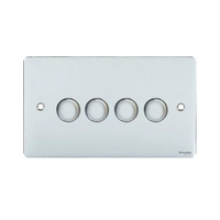 Flat Plate PC DIMMER  4 Gang 2way| LV0701.0556
