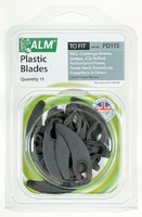 Lawnmower Plastic Blades (Half Moon Design) - PD115