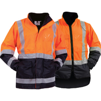 Bison Stamina Hi Vis Day/Night  5n1  Jacket/Vest Combo