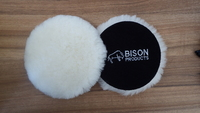 Bison Velour Back 6  Wool Bonnet Buffing Pad - SAN-BUFF-010