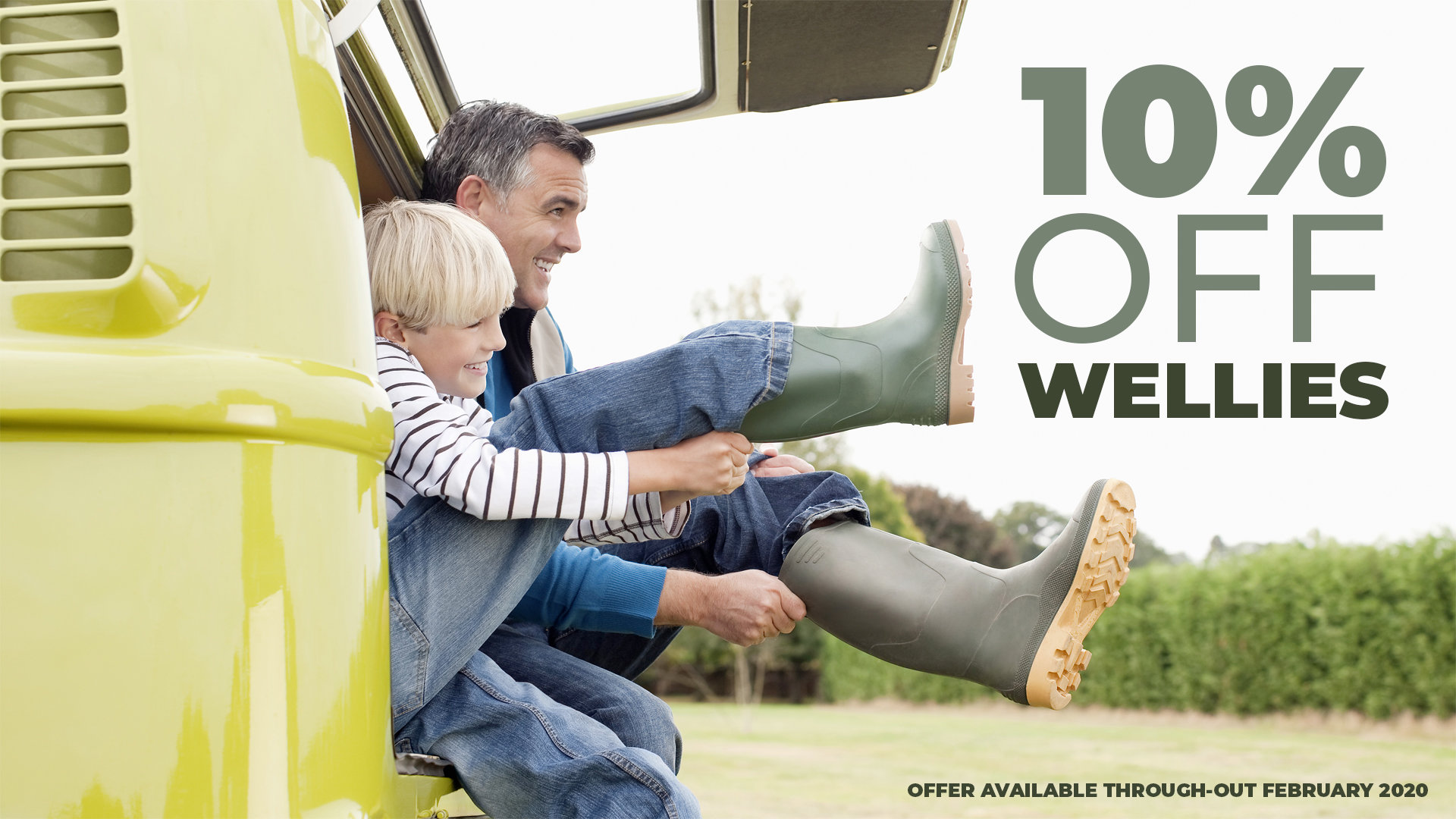 10% Off Wellies