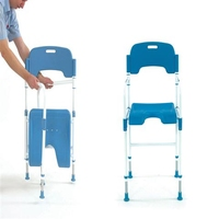 Shower Chair - Folding, Adjustable Height