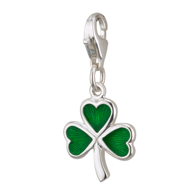 S/S ENAMEL SHAMROCK & L CATCH