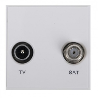 Triax TV/Sat Insert - White (304260)