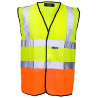 Supertouch Hi-Visibility 2 Tone Vest, Yellow/Orange