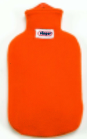 Contour Covered 2 Litre Hot Water Bottle Orange