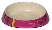 Rogz Melamine Cat Bowlz Fishcake - Pink Candy Stripes 200ml x 1