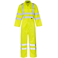 Supertouch Hi Visibility Coverall, Yellow