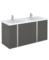 Sonas Avila Gloss Grey 120cm Vanity Unit