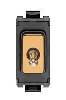 Schneider Ultimate Screwless Grid Polished Brass Intermediate Toggle black|LV0701.1075