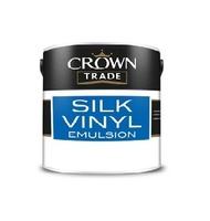 CROWN SILK VINYL EMULSION PAINT BRILLIANT WHITE 2.5 LT