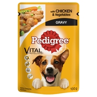 Pedigree Pouches Adult - Chicken & Veg in Gravy 100g x 24