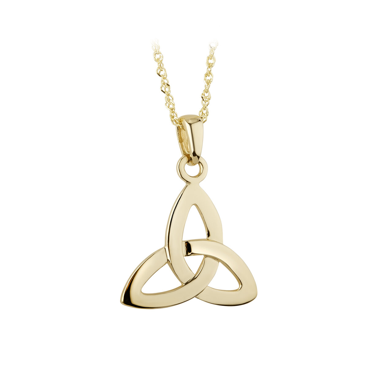 14k gold trinity knot pendant s4215 from Solvar
