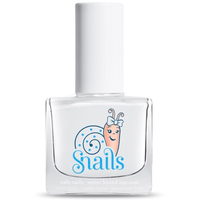 Natural top-coat kids-safe nail polish that washes off with soap and water.