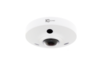 IC Realtime 12MP H.265 1.98mm Fisheye Fixed 10m IR IK10 Dome with Microphone and Alarm I/O