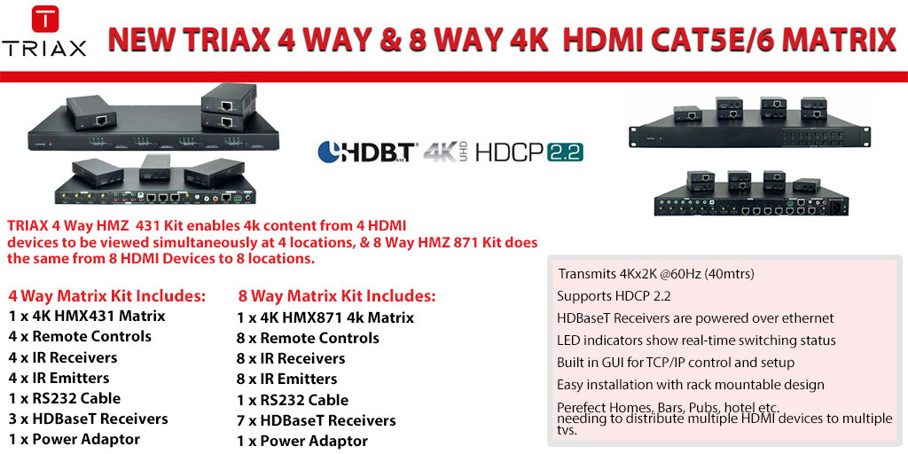 NEW Triax 4K Matrix