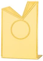 7cm Aluminium Ribbon Plaque (Gold) V201