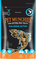 Pet Munchies Dog Treats Salmon Bites 90g x 8