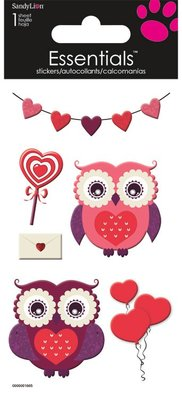 Love Owls Essential Craft Sticker.