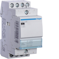 HAGER CONTACTOR 4 POLE 25A 4 N/C